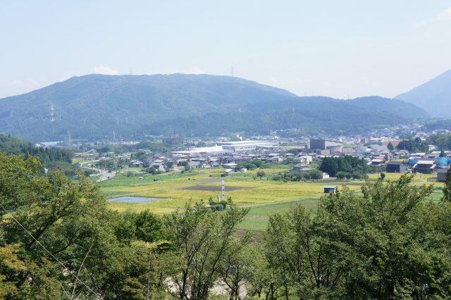Blick auf die Ebene von Sekigahara, heutige Präfektur Gifu