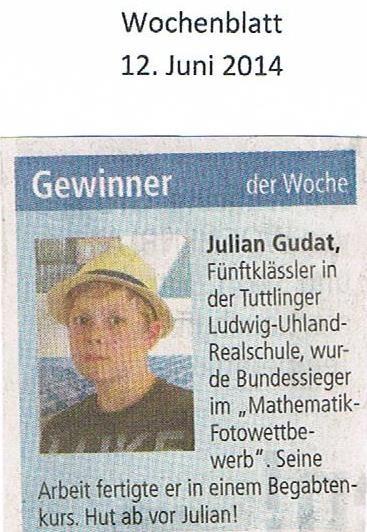 Gewinner des Mathematik-Fotowettbewerbs