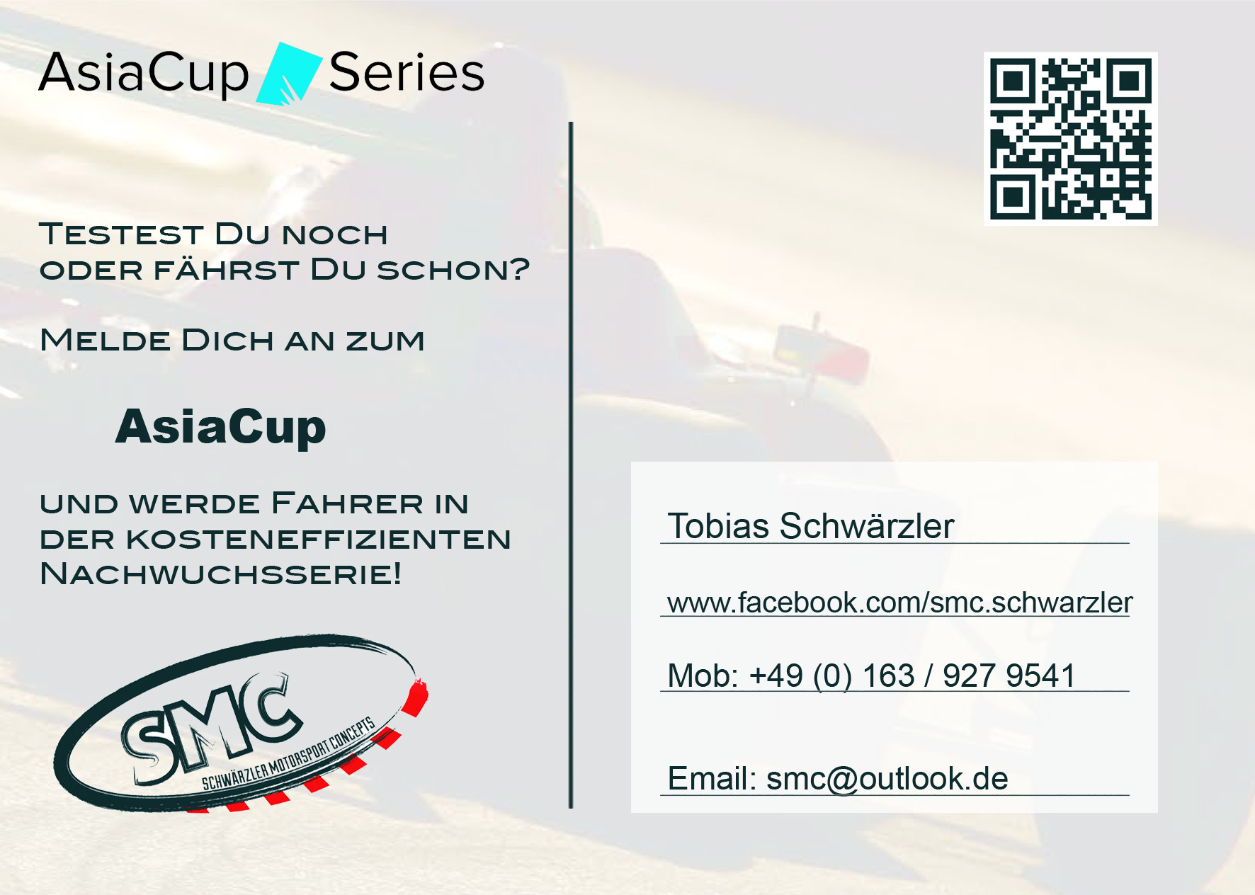 Promotionflyer AsiaCup Series