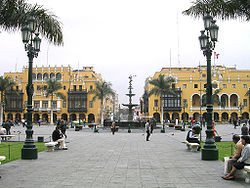 Plaza de Armas o Plaza Mayor a Lima