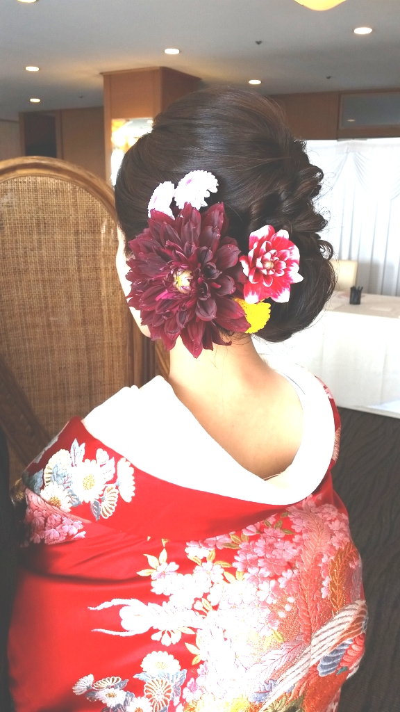大きいダリアがとっても素敵😉💠           生花  Hana Uta