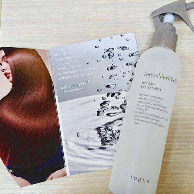 イオグスヴェールヴェールミスト  浸透技術に優れた美容成分を髪の奥底まで導入定着補修でよりしなやかに滑らかで艶やかに