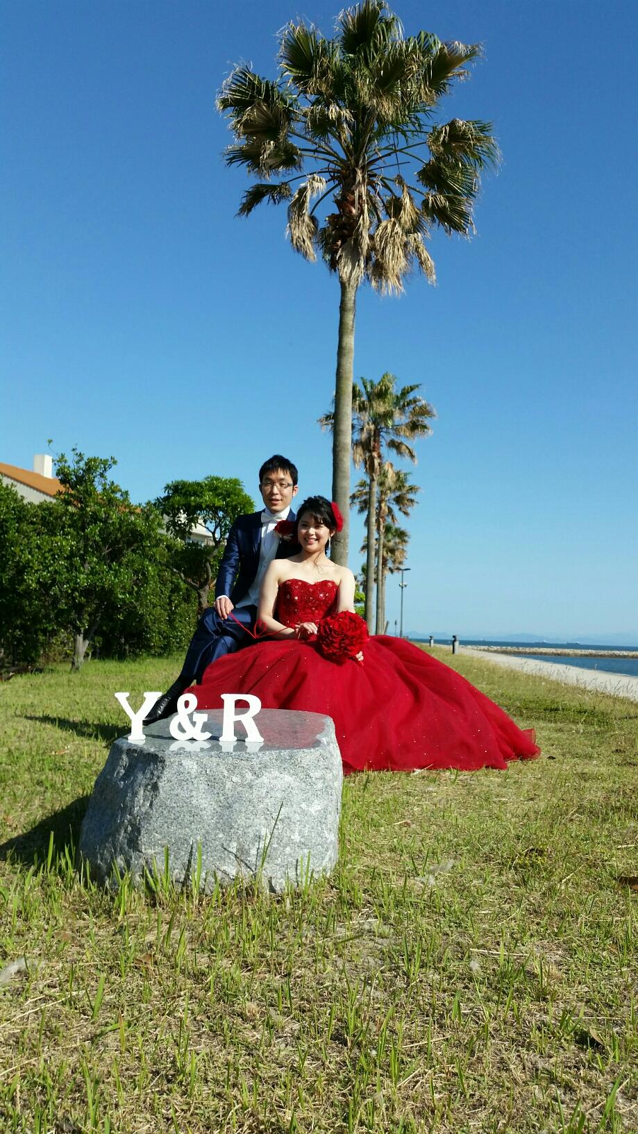 お天気もとっても良く、赤いdressが素敵でした✨