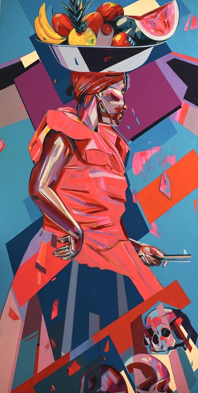 Palenque 90 x 170 cm Acrylic on Canvas 2019