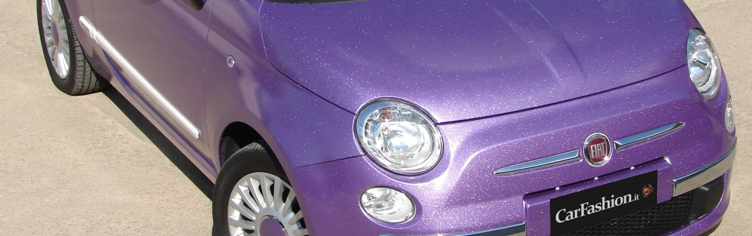 Fiat 500 viola metalflake