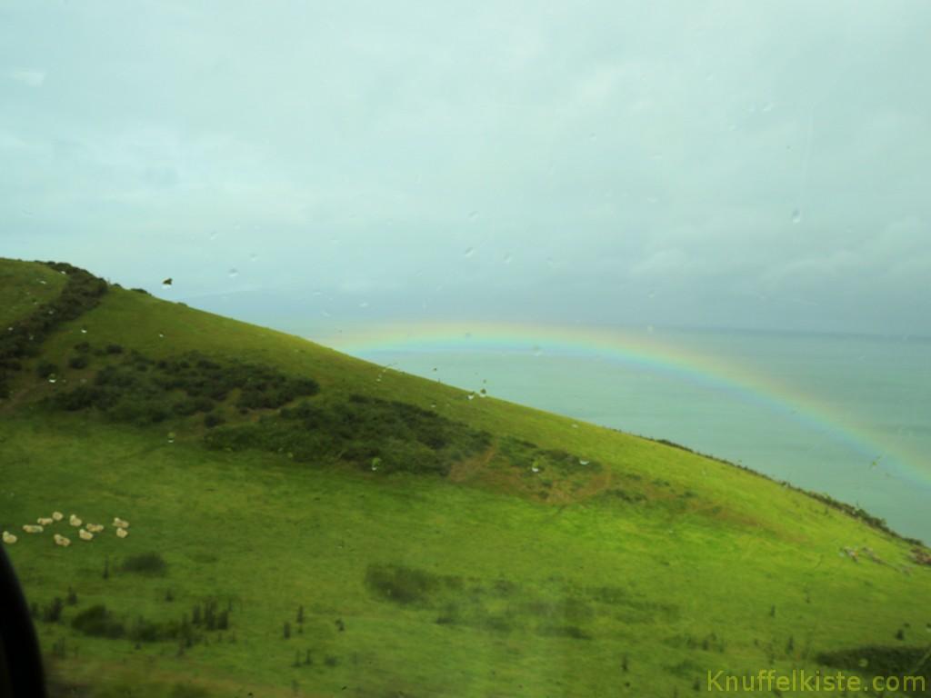 ein Regenbogen an der Westküste von Wales, zum Abschied!