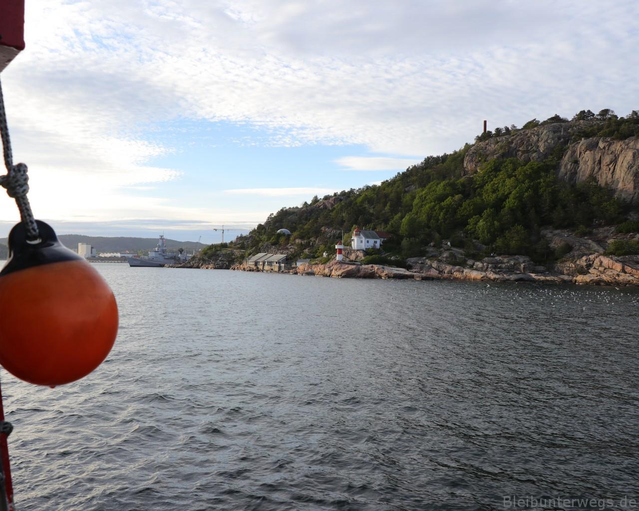 das erste Foto von Norwegen!