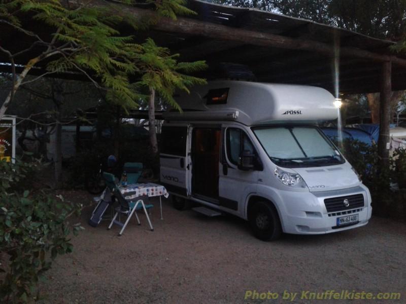 am Campingplatz am Nachmittag
