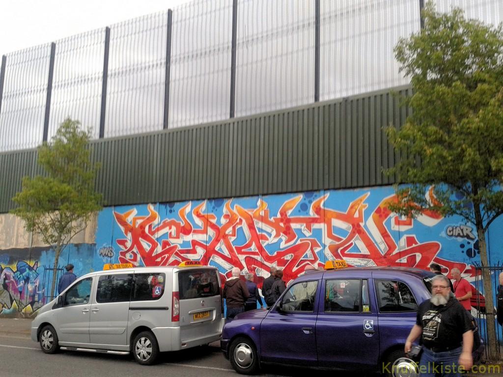 die Mauer in  Belfast...