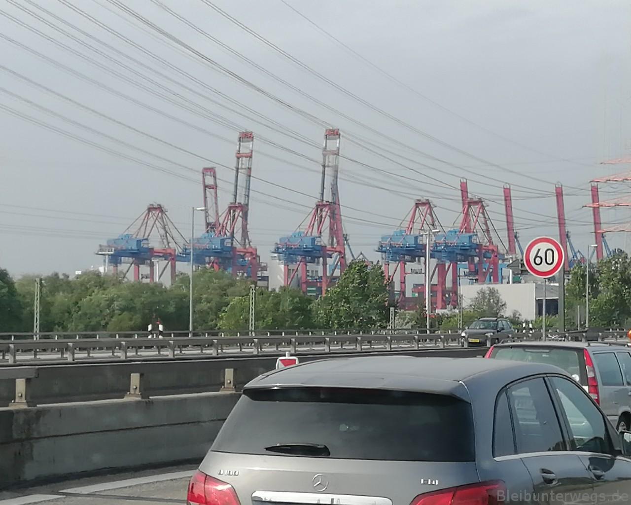 Die Kräne vom Hamburger Hafen