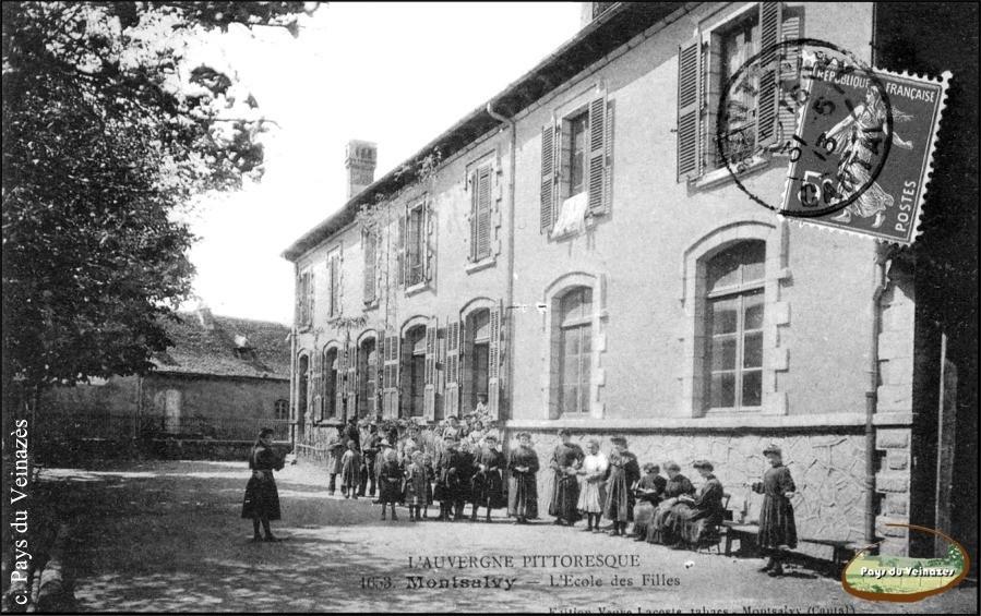 Ecole des filles de Montsalvy - Ed. Veuve Lacoste.