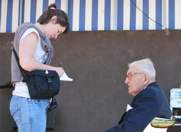 Jean-Marie Gaston et la journaliste Karine Auriac