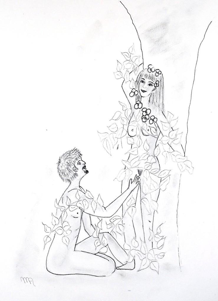 die Orchidee und der Efeu