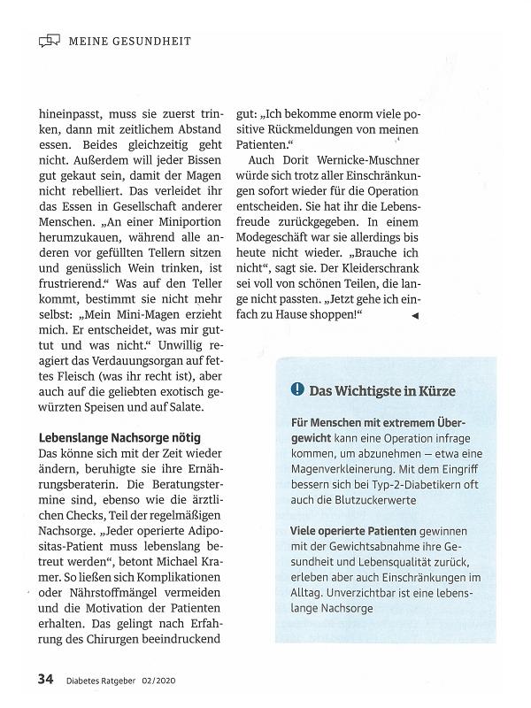 Diabetes Ratgeber 02/2020 Seite 34