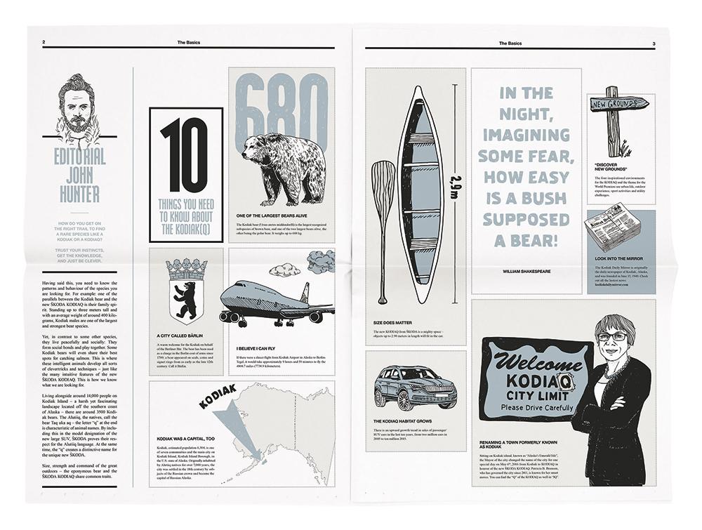 Handgezeichnete Illustrationen für Sonderzeitung, Editorial. Marina Schilling.