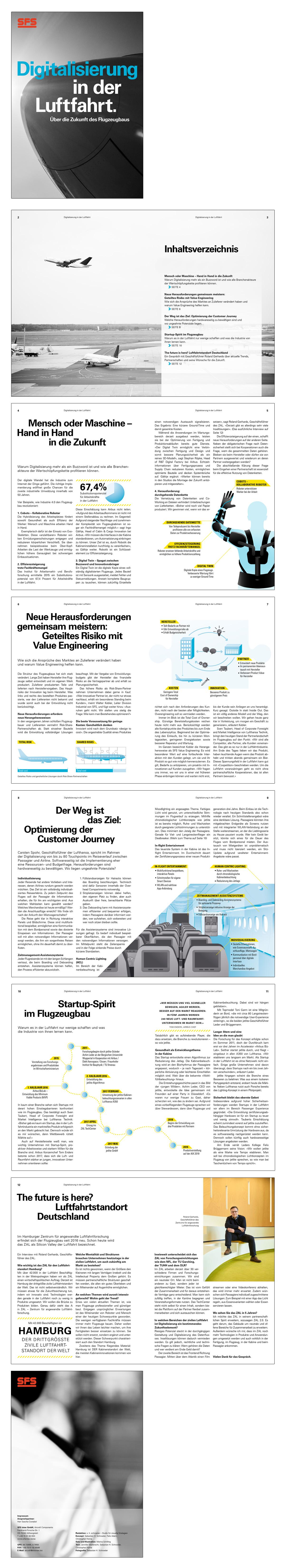 Illustration Infografiken und Layout Editorial für ein Paper über Luftfahrt. Marina Schilling