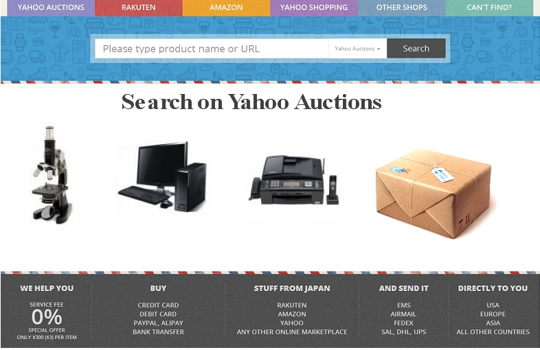 Search on Yahoo Auctions