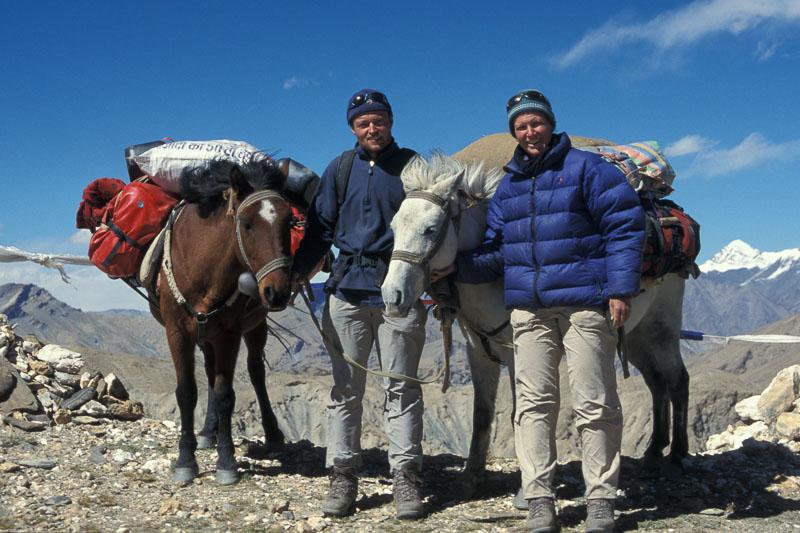 Während einigen Jahren sind Martina und Thomas Zwahlen mit eigenen Pferden quer durch Ladakh gewandert