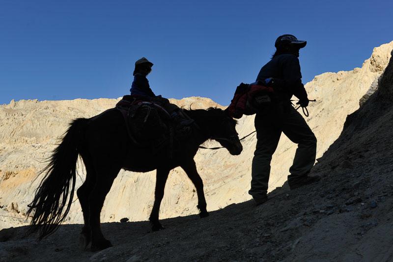 Unterwegs im ehemaligen Königreich Mustang in Nepal