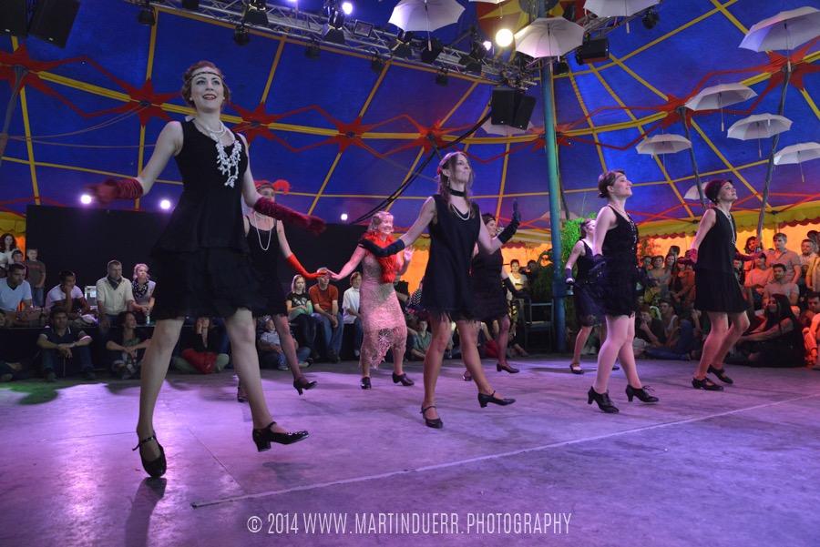 Charleston-Steptanz: Tanzschüler-Show vom Vintage Dance Studio.