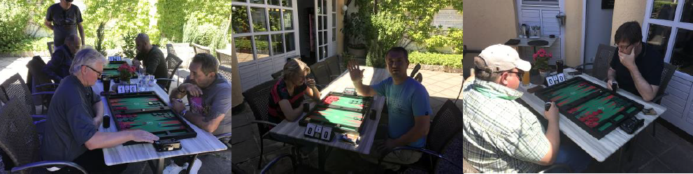 Outdoor Backgammon im Mai