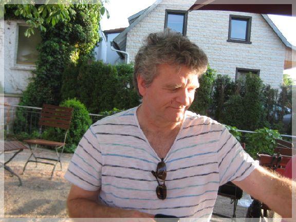 Michael Fechler auf dem Platz an der Sonne