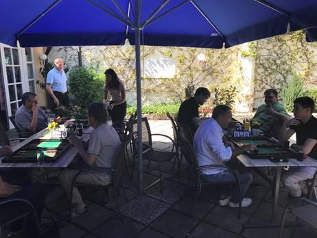 Erstmalig in dieser Saison: Outdoor-Backgammon