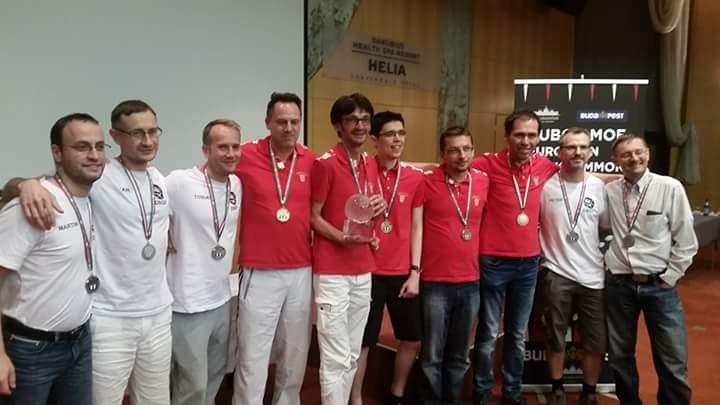 Europameister Kroatien (in Rot) und Vizeeurpameister Deutschland (in Weiß)