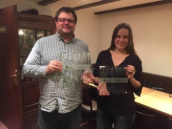 Finalist Oliver PLAEHN und die strahlende Siegerin des TOC 2015, Josefin BICHLER