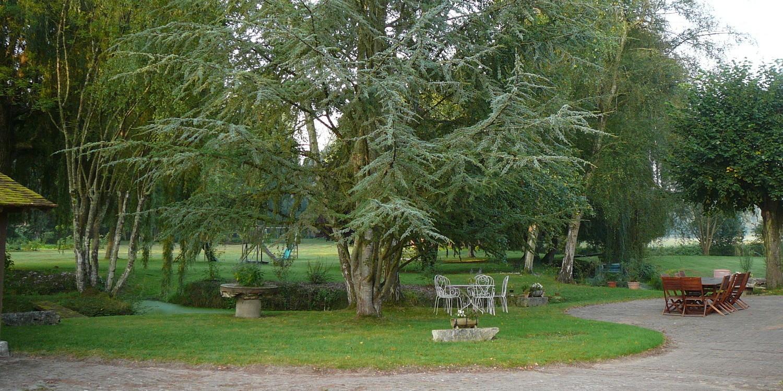 Le parc vu de la terrasse
