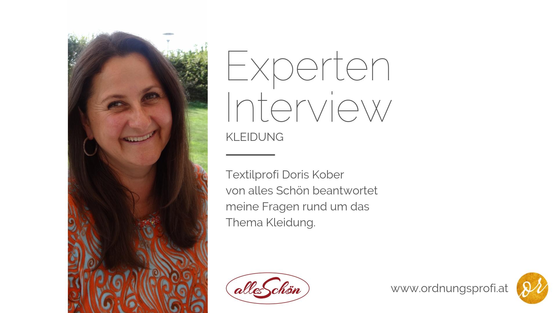 Textilprofi Doris Kober über altbekannte Schrankhüter