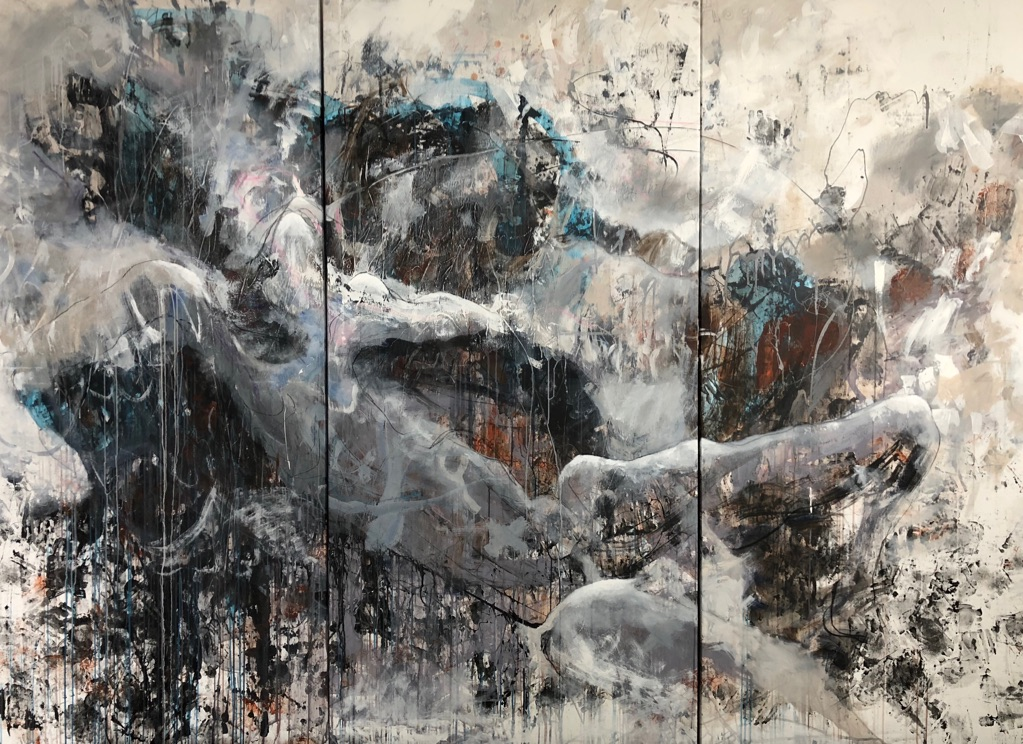 MT auf Leinen/mixed media on canvas/Tripthychon 200x270cm