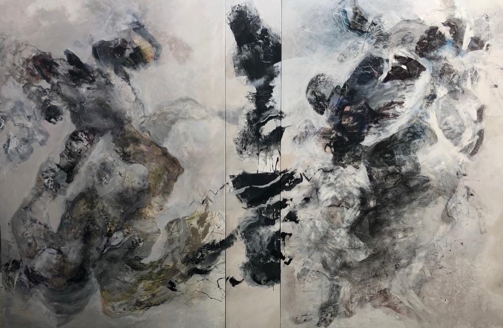 MT auf Leinen/mixed media on canvas/Tripthychon/tripthych/300x450cm