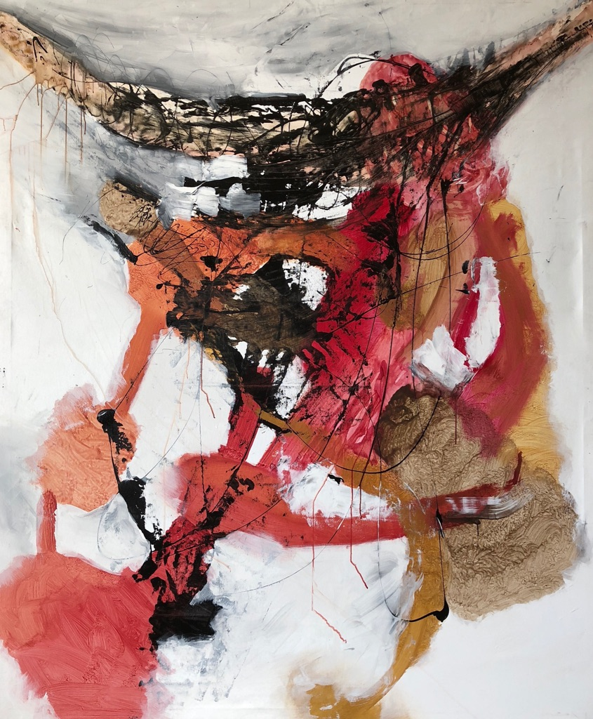 MT auf Leinen/mixed media on canvas/200x165cm/2018