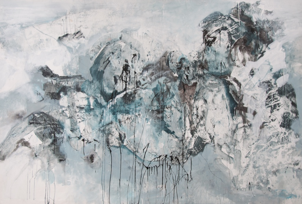 MT auf Leinen/ mixed media on canvas/ 200x295cm