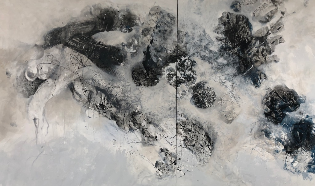 MT auf Leinen/mixed media on canvas/Dipthychon/dipthych/200x335cm