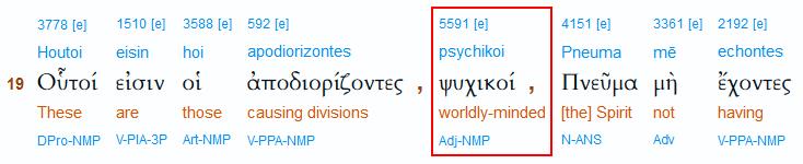 Interlinearübersetzung zu Judas 19