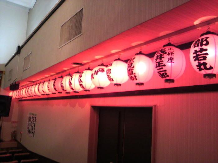 座長さんの提灯がたくさん…