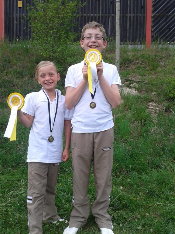 Florian und Lisa, die strahlenden Sieger :)