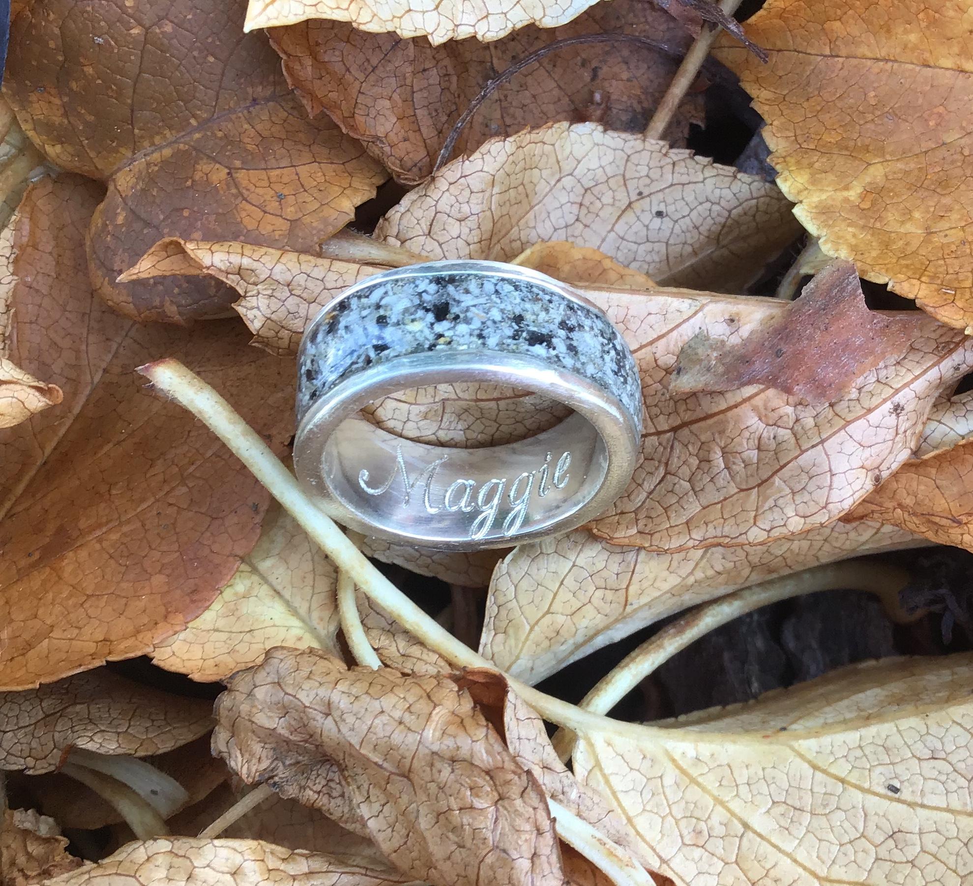 Ring 8 mm breit 925 Silber  mit Gravur 79,- * Alle angegebenen Preise sind Gesamtpreise (zzgl. Versandkosten).