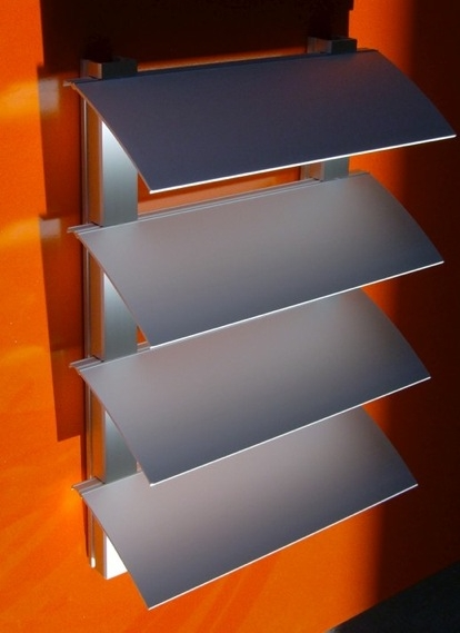 Sonnenschutzgitter mit variablem Lamellenabstand | feststehende Lamellen