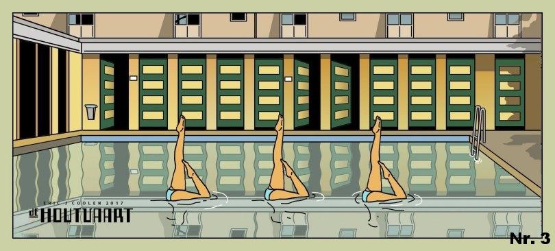 Nr. 3 Houtvaart met 3 synchroonzwemsters