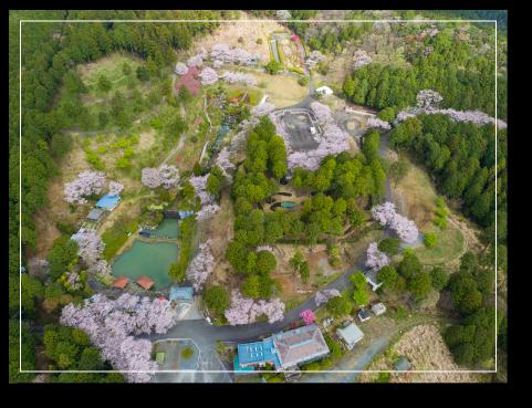 上空から見た奥山高原