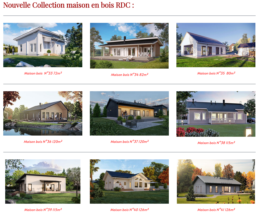 Maison bois nouvelle collection