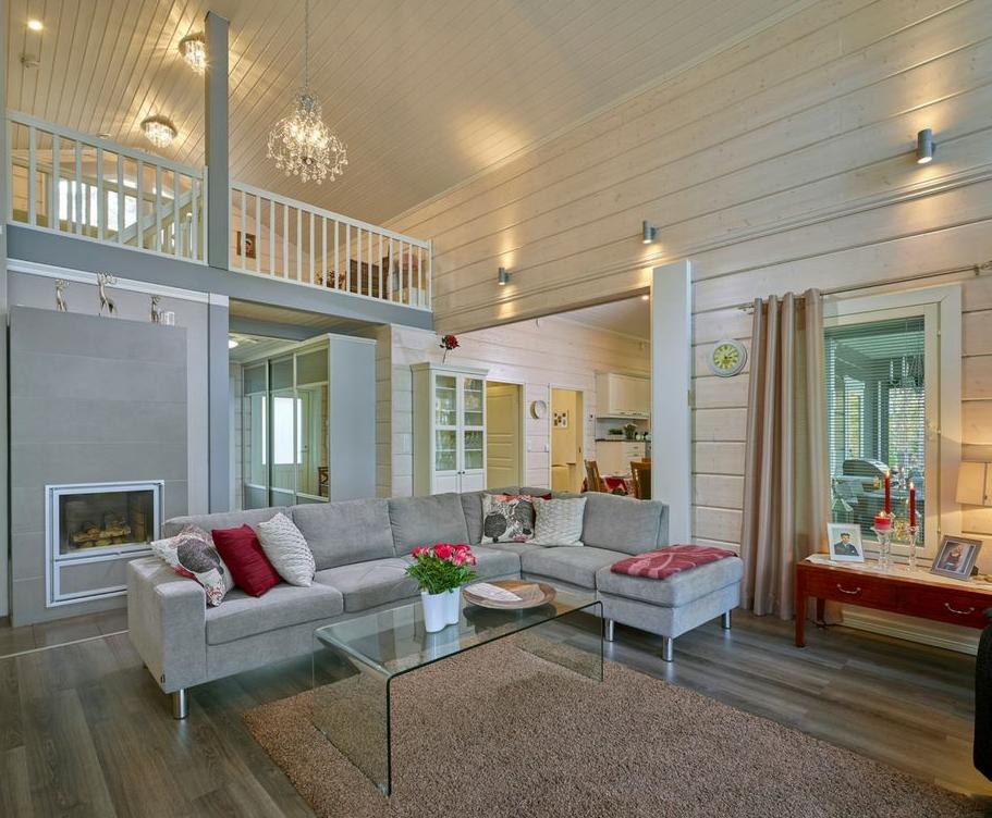 Video intérieur maison bois. - Chalet en kit, maison en bois.