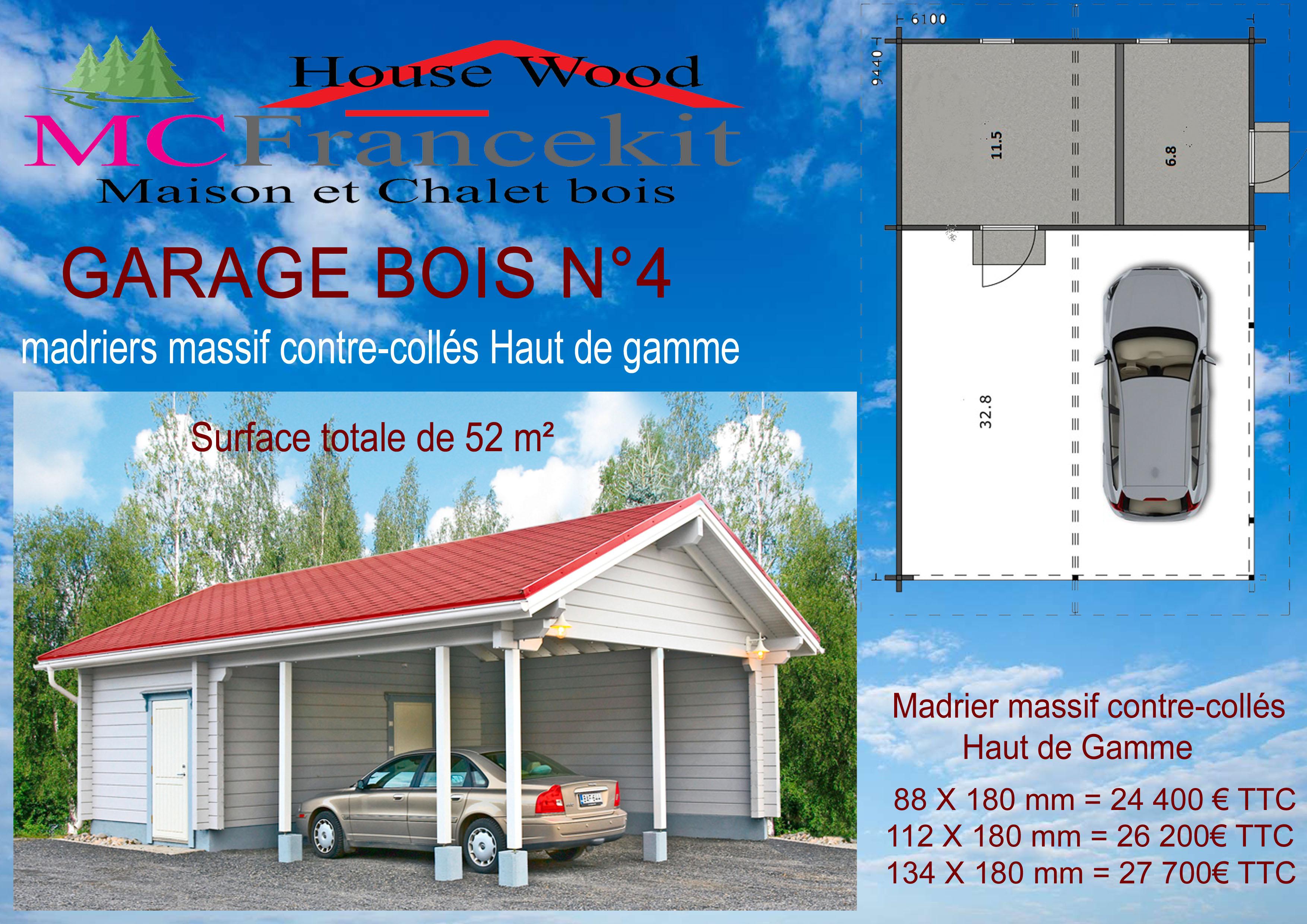 Garage en bois N°3