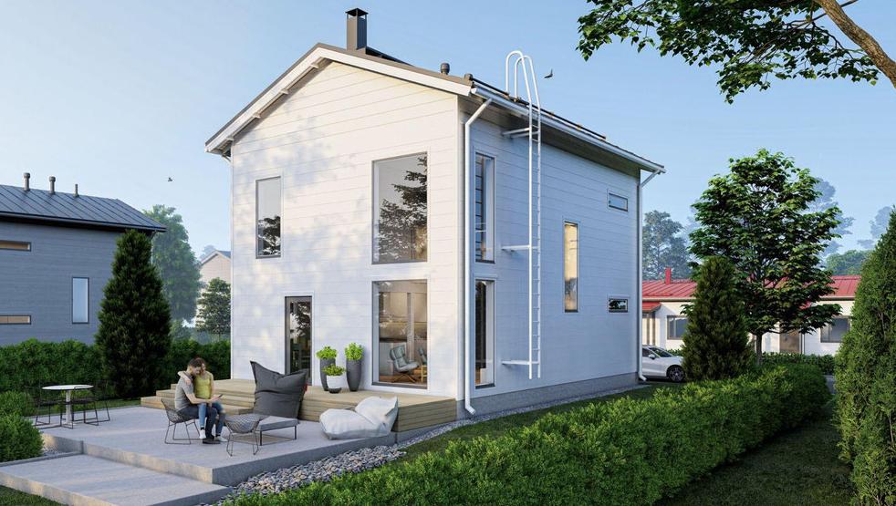 Maison en bois étage