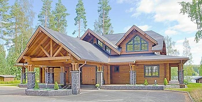 maison en bois facade arriére