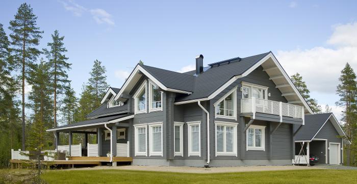 maison en bois contre-collé