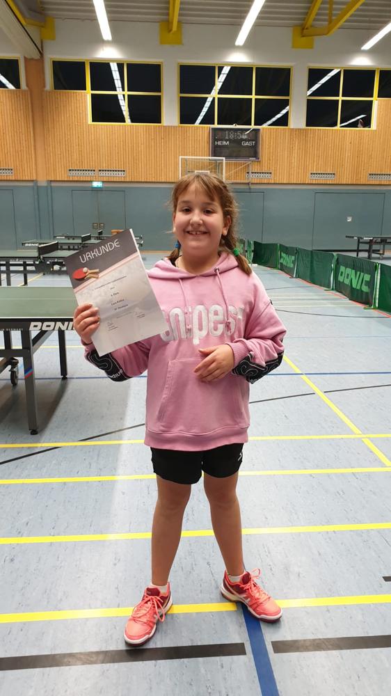 Lara Kübler die stolze 4. Platzierte !